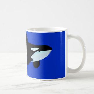 orca killer whale underwater graphic classic white coffee mug