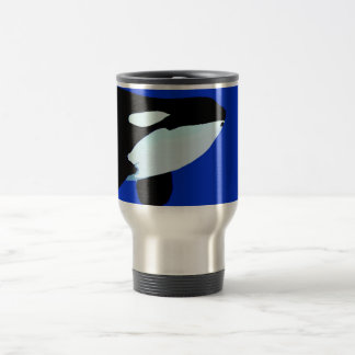 orca killer whale underwater graphic 15 oz stainless steel travel mug
