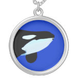 orca killer whale underwater graphic custom necklace