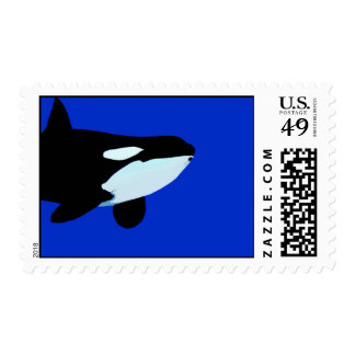 orca killer whale underwater graphic stamps