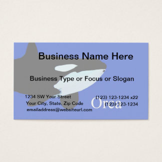 orca killer whale underwater graphic txt business card