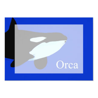 orca killer whale underwater graphic txt card