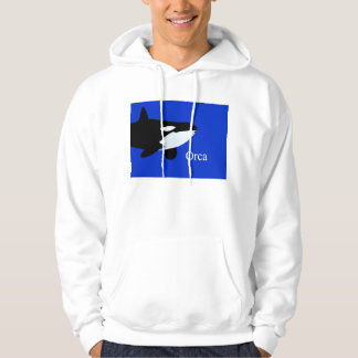 orca killer whale underwater graphic txt hoodie