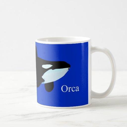orca killer whale underwater graphic txt classic white coffee mug