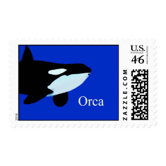orca killer whale underwater graphic txt stamp