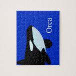orca killer whale underwater graphic txt puzzle