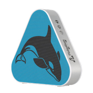 Orca Killer Whale with Blue Ocean Background Bluetooth Speaker