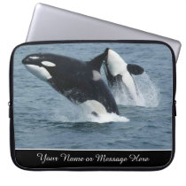 Orca Killer Whales Breaching Personalized Computer Sleeve