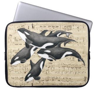 Orca Killer Whales Pod Computer Sleeve