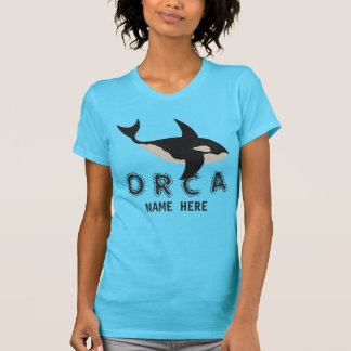 Orca Leather Look Animal Lover Ladies Fashion T-Shirt