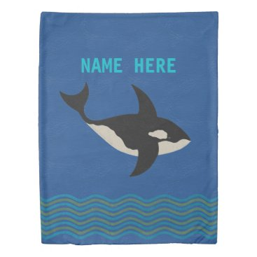 Beach Themed Orca Leather Look Beach House Bedroom Reversible Duvet Cover