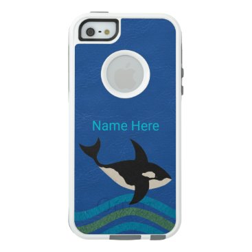 Ocean Themed Orca Leather Look iphoneSE Preppy Style Aquatic OtterBox iPhone 5/5s/SE Case