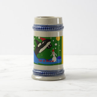 Orca Let it Snow Steiner Beer Stein