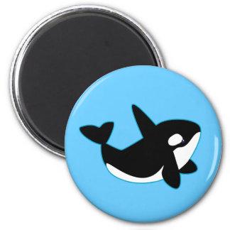 Orca linda (orca) imanes de nevera