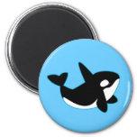 Orca linda (orca) imán redondo 5 cm