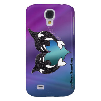 Orca Love Northern Lights Galaxy S4 Cover