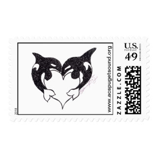 Orca Love Postage Stamp