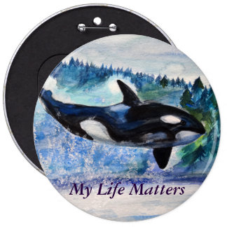 Orca lovers Nature friedly  Badge Pinback Button