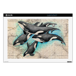 "Orca Map Atlas 17"" Laptop Decal"