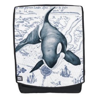 Orca Map Blue Backpack