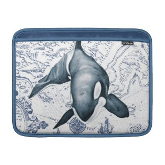 Orca Map Blue MacBook Air Sleeve