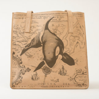 Orca Map Blue Tote
