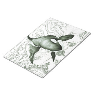 Orca Map Green Notepad