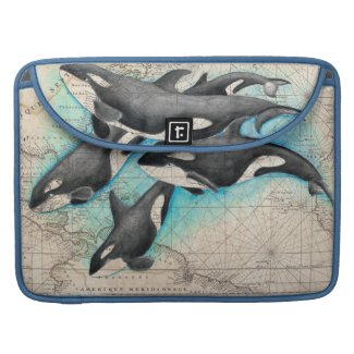Orca Map Sleeve For MacBooks