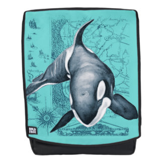 Orca Map Teal Backpack