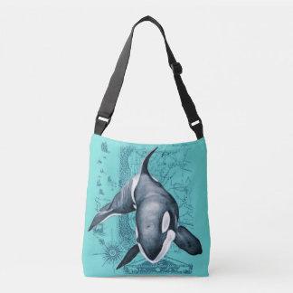 Orca Map Teal Crossbody Bag