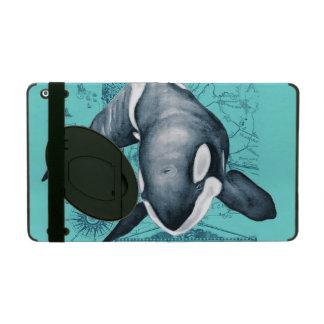 Orca Map Teal iPad Case
