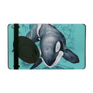 Orca Map Teal iPad Cover