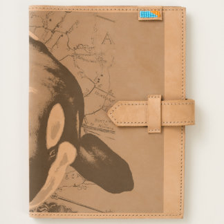 Orca Map Teal Journal
