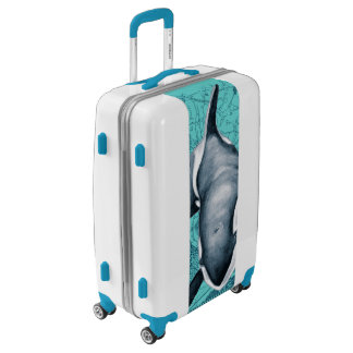 Orca Map Teal Luggage