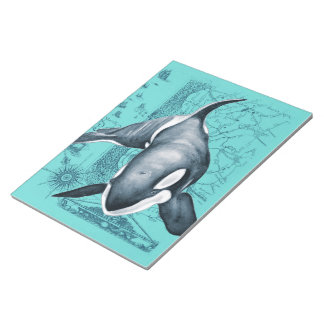 Orca Map Teal Notepad