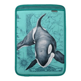 Orca Map Teal Sleeve For MacBook Air