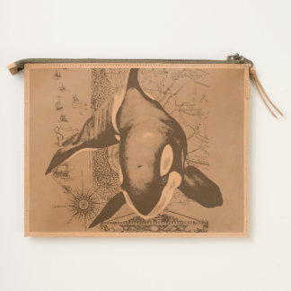 Orca Map Teal Travel Pouch