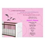 Orca Mobile Girl Crib Flat Baby Shower Invitation