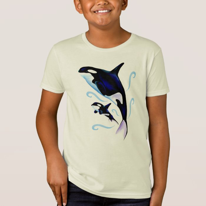 Orca Mom and Baby Shirt