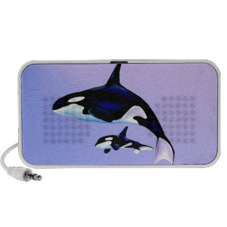 Orca Mom and Baby Travelling Speakers