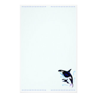 Orca Mom and Baby Stationery