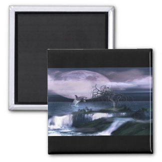 Orca Moon 2 Inch Square Magnet