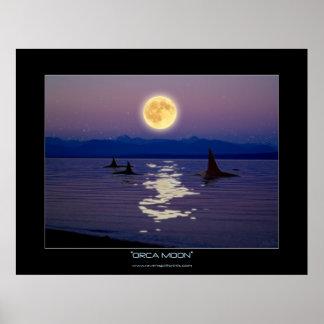 ORCA MOON Fantasy Art Poster