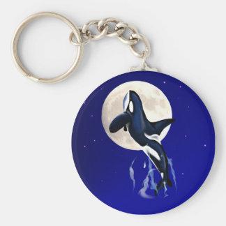 Orca Moon Keychain