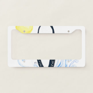 orca moon license plate frame