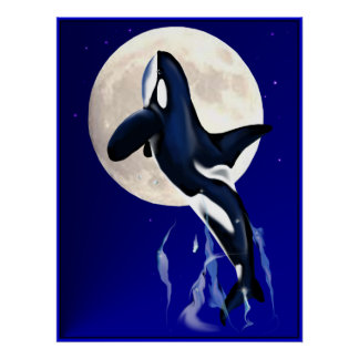 Orca Moon Poster
