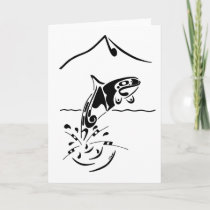 "Orca ~ ""Muical"" Greeting Card (Basic)"
