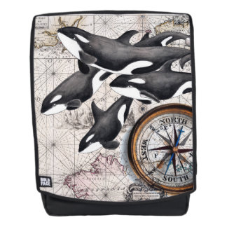 Orca Nautical Compass Backpack