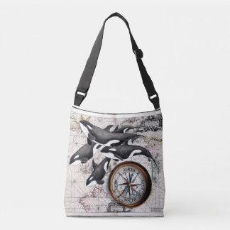 Orca Nautical Compass Crossbody Bag