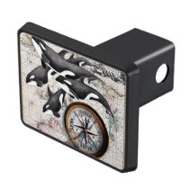 Orca Nautical Compass Hitch Cover